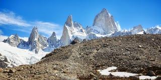 Fitz Roy Mountain Range, Argentina Immagini Stock Libere da Diritti