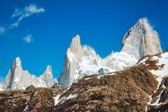 Fitz Roy Mountain Range, Argentina Immagine Stock Libera da Diritti