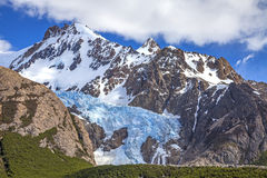 Fitz Roy Mountain Range, Argentina. One of Patagonia's premier traveler magnets, Los Glaciares National Park, Argentina Royalty Free Stock Image