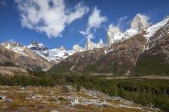 Fitz Roy Mountain Range Argentina Royaltyfria Foton