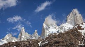 Fitz Roy Mountain Range, Argentina. One of Patagonia's premier traveler magnets, Los Glaciares National Park, Argentina Royalty Free Stock Photo