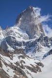 Fitz Roy Mountain Range, Argentina. One of Patagonia's premier traveler magnets, Los Glaciares National Park, Argentina Stock Photo
