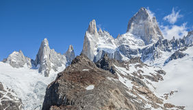 Fitz Roy Mountain Range Argentina Arkivbild