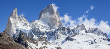 Fitz Roy Mountain Range, Argentina. One of Patagonia's premier traveler magnets, Los Glaciares National Park, Argentina Stock Photography