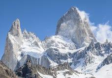 Fitz Roy Mountain Range, Argentina. One of Patagonia's premier traveler magnets, Los Glaciares National Park, Argentina Royalty Free Stock Photos
