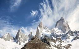 Fitz Roy Mountain Range, Argentina Royalty Free Stock Photos