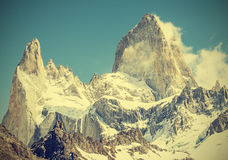 Fitz Roy Mountain Range, Argentina. Stock Images