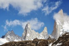 Fitz Roy Mountain Range, Argentina. Royalty Free Stock Images