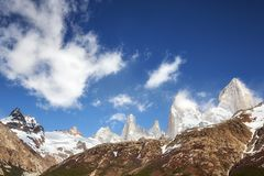 Fitz Roy Mountain Range, Argentina. Royalty Free Stock Photo