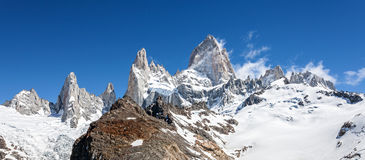 Fitz Roy Mountain Range in Patagonia, Argentina Stock Photo