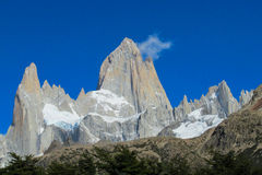 Fitz Roy mountain spectacular view Royalty Free Stock Images