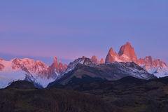 Fitz Roy Mountain-zonsopgang Stock Foto's