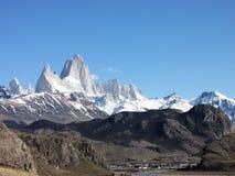 Fitz Roy Mountains - Patagonia - El Chaltén, Argentina Arkivbild