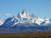 Fitz Roy Mountains - Patagonia - El Chaltén, Argentina. Fitz Roy Mountains from Los Glaciares National park - Patagonia - El Chaltén, Argentina Stock Image