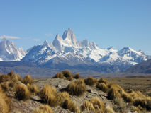 Fitz Roy Mountains - Patagonia - El Chaltén, Argentina. Fitz Roy Mountains from Los Glaciares National Park - Patagonia - El Chaltén, Argentina Royalty Free Stock Photography