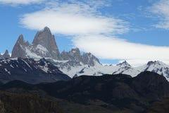 Fitz Roy a neigé paysage de montagne, Chalten, Argentine Images libres de droits