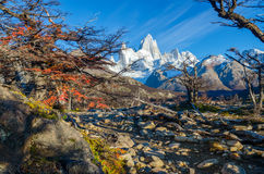 Fitz Roy scenic view Stock Image