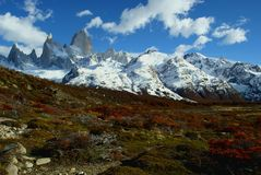 Fitz roy in southern argentina Royalty Free Stock Photos