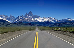 Fitz Roy straight ahead Royalty Free Stock Photos