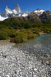 Fitz Roy. Summit in Los Glacares National Park (Patagonia), Argentina Royalty Free Stock Photography
