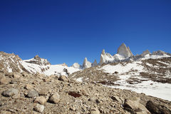Fitz Roy in the Winter. Clear day at Fitz Roy stock photography