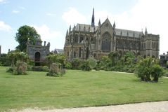 Fitzalan Chapel. Arundel Castle Church and garden in England Royalty Free Stock Images