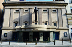 Fitzgerald Theater, St. Paul. Front view of the Fitzgerald Theater in Saint Paul, MN stock photography