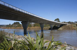 Fitzherbert Bridge, Palmerston North. Fitzherbert Bridge running over the Manawatu River, Palmerston North, New Zealand Stock Photos