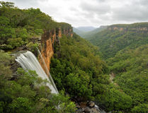 Fitzroy下跌Yarrunga谷南部高地澳大利亚 库存照片