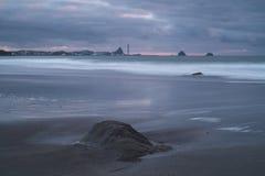Fitzroy Beach, New Plymouth, NZ Stock Photos