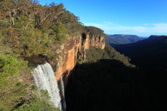 Fitzroy Falls cliff landscape panoramic view Stock Photo