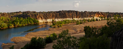 Fitzroy Rive and Geikie Gorge Royalty Free Stock Photos