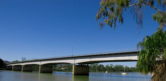 Fitzroy River Bridge Rockhampton QLD. Beautiful Fitzroy River Bridge over the Fitzroy River in Rockhampton QLD on a sunny winters day in tropical Central Stock Photos