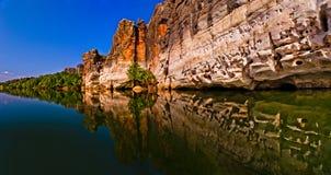 Fitzroy劈裂和Geikie峡谷 库存照片