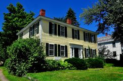 Fitzwilliam, NH: 18th Century Colonial Home Stock Photos