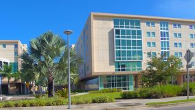 FIU College Miami. Motion video footage of Florida International University 4k stock footage