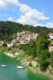 Fiumata国家在湖Salto的在阿布鲁佐-意大利37 库存照片
