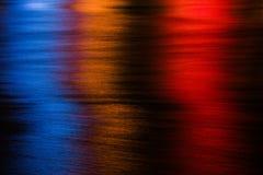 Fiume alla notte Fotografie Stock Libere da Diritti