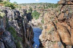 Fiume alle buche dei bourkes in Sudafrica Fotografia Stock