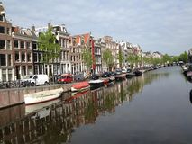 Fiume a Amsterdam Fotografia Stock