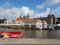 Fiume a Amsterdam, Paesi Bassi fotografia stock