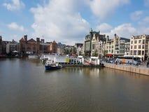 Fiume a Amsterdam, Paesi Bassi immagine stock libera da diritti