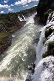 Fiume Argentina e Brasile di Iguassu Fotografie Stock Libere da Diritti