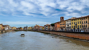 Fiume Arno. Arno cost Pisa. Tuscany, Italy stock images