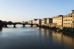 Fiume Arno a Firenze Fotografia Stock Libera da Diritti