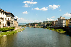 Fiume Arno, Florence, Italië Royalty-vrije Stock Foto's