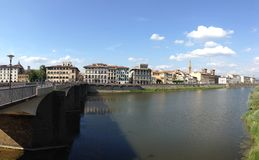 Fiume Arno river in Florence Italy Royalty Free Stock Photography