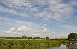 Fiume Arun a Amberley, Sussex, Inghilterra fotografia stock libera da diritti
