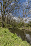 Fiume Bilina vicino al villaggio di Stadice nel giorno di primavera Immagini Stock