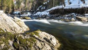 Fiume Breitach nelle alpi europee Immagini Stock Libere da Diritti